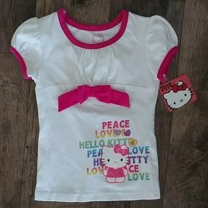 NWT Hello Kitty t-shirt, size 4